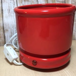 Other - NWT Cachepot Electric Candle Warmer Cherry 🍒 Red